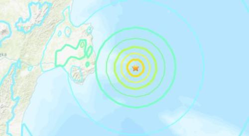 俄罗斯东部附近海域发生6.3级地震。(图片来源:美国地质勘探局网站截图)